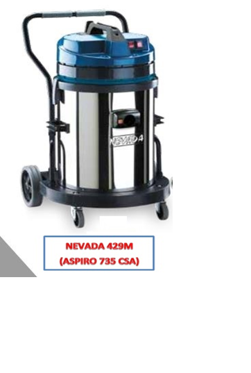 NEVADA 429M (ASPIRO 735 CSA) - WET/DRY VACUUM CLEANER INDUSTRIAL  - ITALY