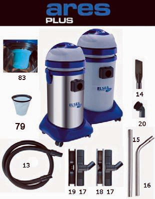 REDDYVAC - MADE IN UK - ARES- - MADE IN ITALY (INDUSTRIAL WET/ DRY VACUUM CLEANERS)